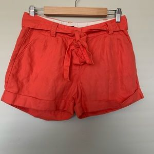 Women's High Waisted J Crew Coral Shorts - Size 0